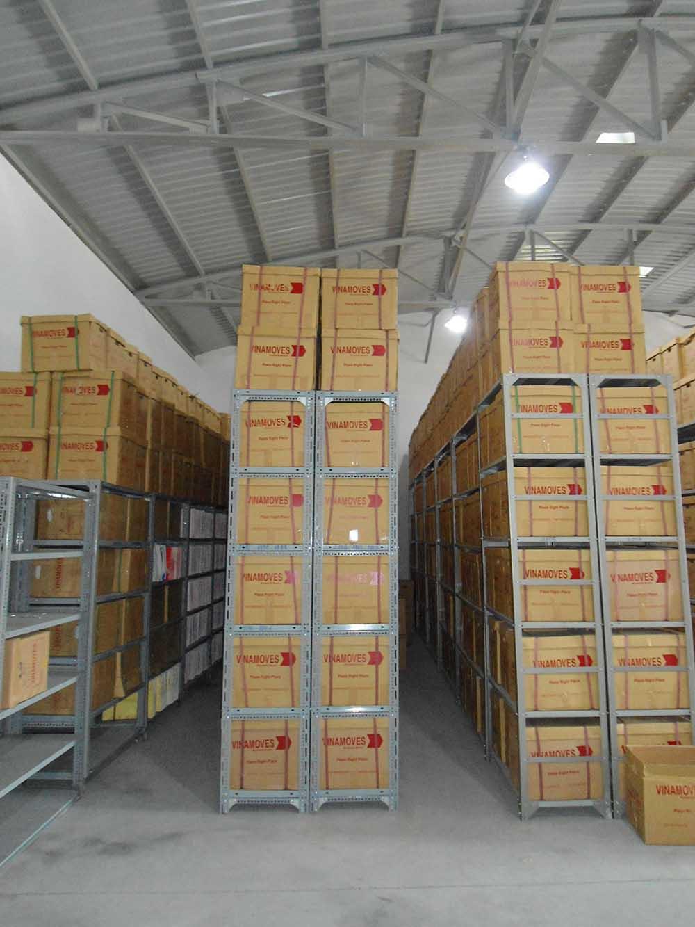 Hệ thống kho lưu trữ hồ sơ tại Vinamoves